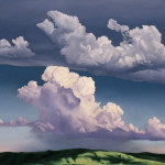 "Cumulonimbus      1980		30"" x  43""	oil on canvas"