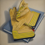 "Small Gloves     1988		12"" x 12"" 	oil on canvas"