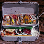 "Tackle Box     1990		24"" x 30 ""	oil on canvas"