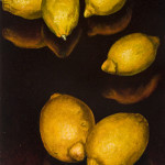 "Six Lemons A     1999		12"" x 9"" 	oil on plywood panel"