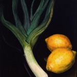 "Lemon Duet     1999		12"" x 15"" 	oil on plywood panel"